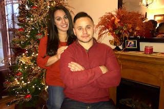 Jesus Estrada, CAPS'20, and his wife.