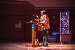 Latasha Morrison shared valuable insights about racial reconciliation with the Bethel community live last Tuesday.