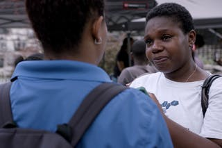 Monique Ferguson-Riley at a community event hosted by Freedom Youth Family Justice Center in the Bronx.