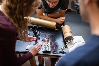 Bethel's physics and engineering students develop problem-solving skills while gaining firsthand experience with science and technology in the lab.