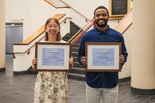 Bethel students Ranae Pageler and Kadrian Chambers