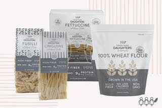 These are the products currently on shelves at grocery stores and for sale on the Three Farm Daughters website.