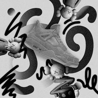 What's the KAWS (Air Jordan 4 'Cool Grey')   Toan Vo '21