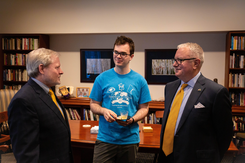 Aaron Coe '19 Awarded Prestigious Scholarship, Trip to Nobel Week