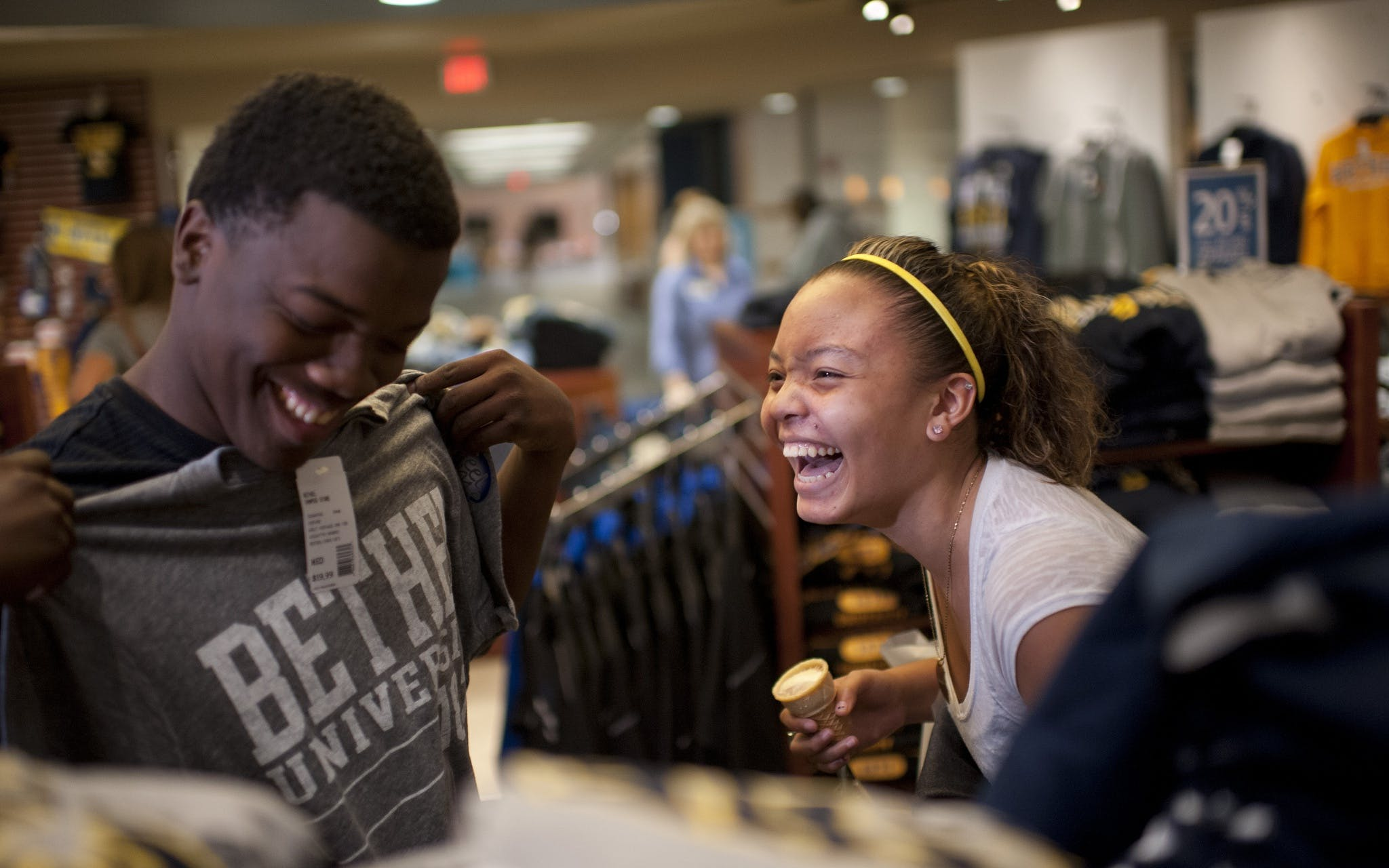 Students shopping in the campus store