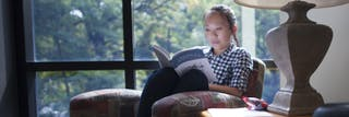 A student reading