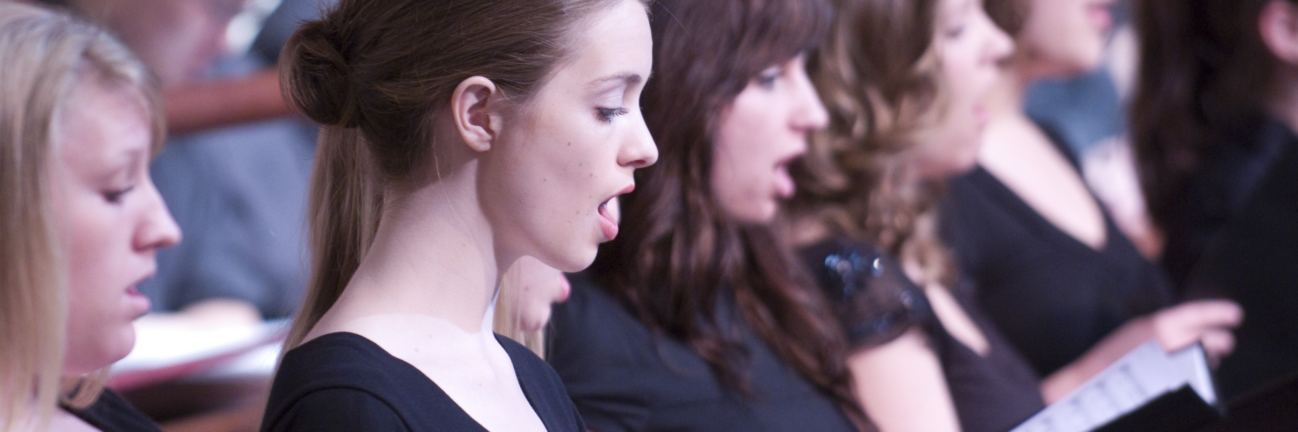 Students performing in choir