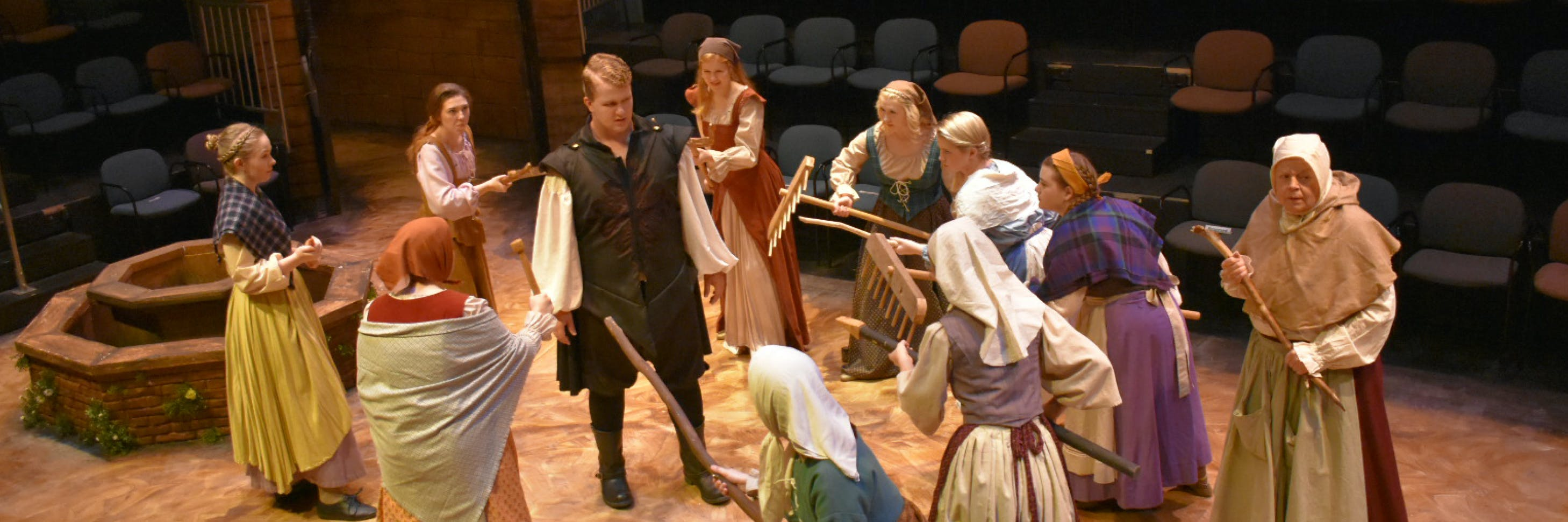 Students rehearsing in the Bethel Theatre