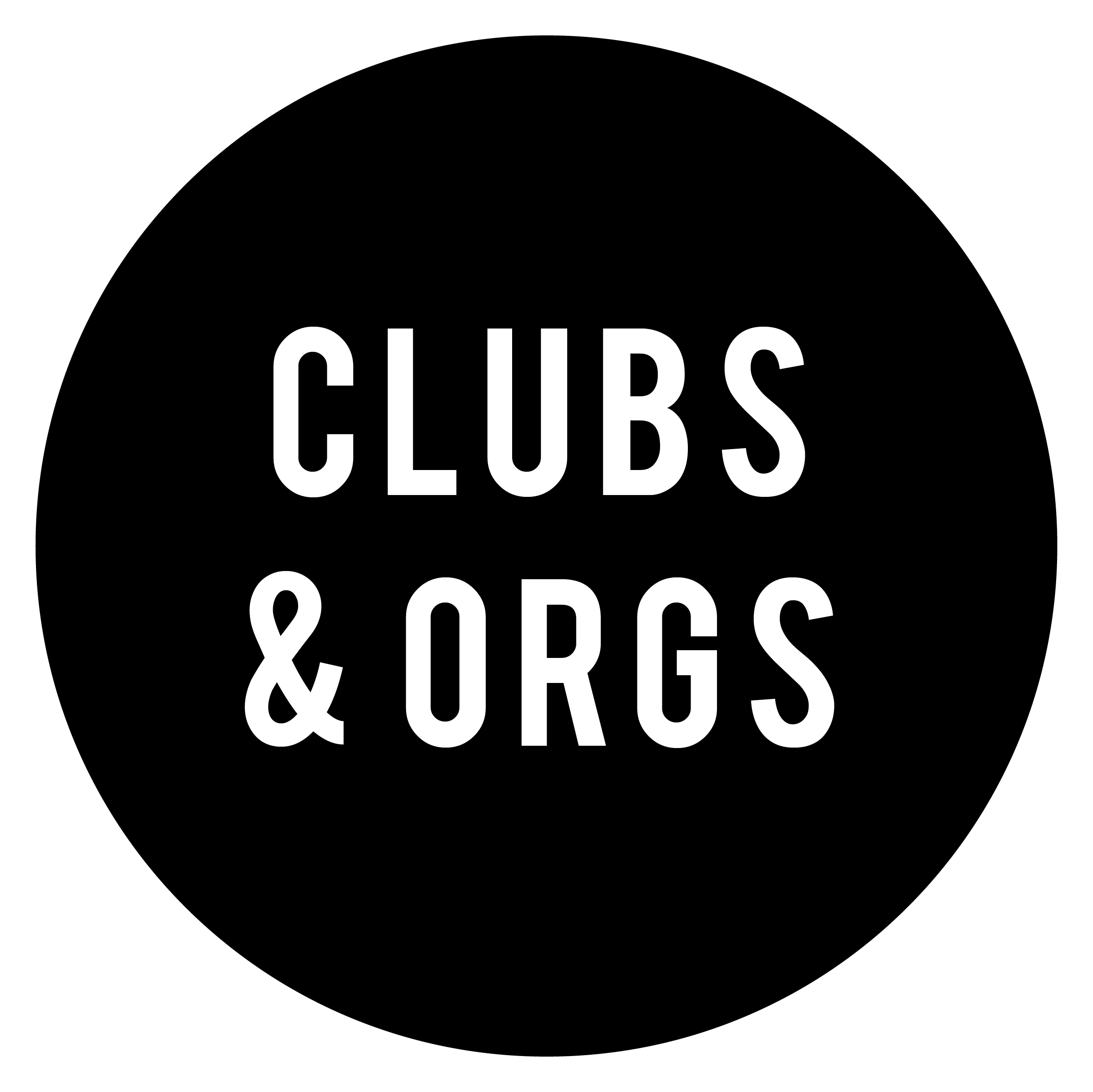 Clubs and Organizations Logo - Circle Black