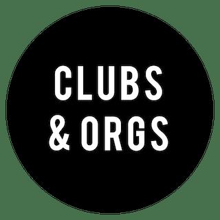 Clubs and Organizations Logo - Circle Black