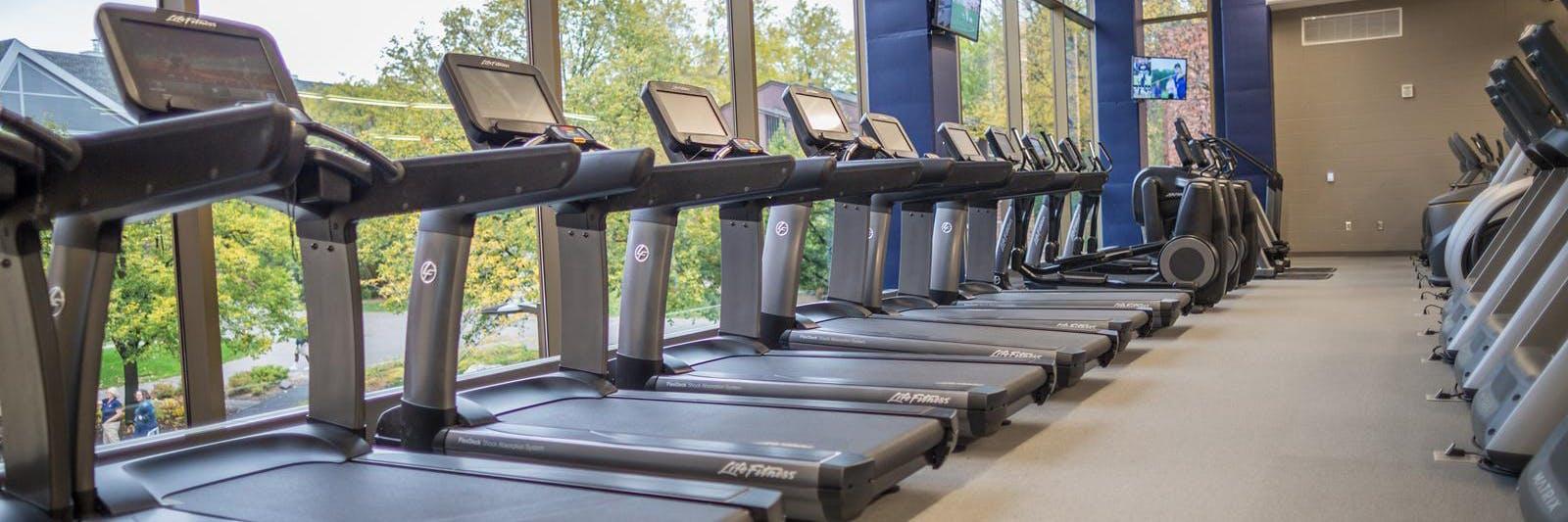 Wellness Center Empty Treadmills